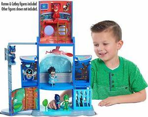 PJ Masks Mission Control HQ Playset Toy Headquarter Catboy Romeo Lights Sounds