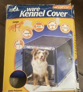"""Wire Kennel Cover by Pet Champion 36""""L x 24""""W x 27"""" H - NEW BLUE"""