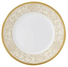 """Wedgwood Celestial Gold 9"""" Accent Salad Luncheon Plate Scrollwork New"""