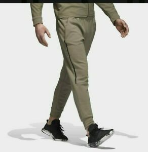 New Adidas ZNE Striker Pants Athletic Casual Soccer Olive Cargo Khaki-Black Szs