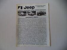 advertising Pubblicità 1979 JEEP CHEROKEE CHIEF/GOLDEN EAGLE