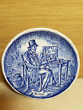 Enoch Wedgewood Tunstall Blue and White Saucer