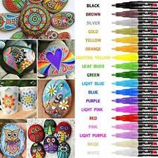 RATEL Peinture Acryliques Stylos 18 Couleurs Marqueur Peinture Acrylique Prem...