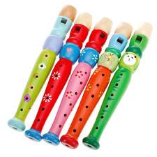 Kinder Bemalte Flöte Musik Spielzeug Hölzerne Blockflöte Geburtstagsgeschenk
