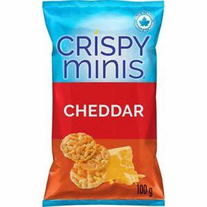2x Quaker Crispy Minis Cheddar Rice Chips 100g/3.52oz EACH Canada ALWAYS FRESH!