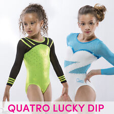 "Quatro Gymnastics Girls Long Sleeve Leotard LUCKY DIP 24"" Child Small 3-4 years"