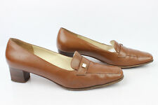 Court shoes SALVATORE FERRAGAMO All Leather Brown 10 C/Fr 39,5 Large