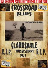BLUES POSTERS JOHNSON VINTAGE GUITAR CROSSROADS CONCERT DEVIL KING MUDDY CLAPTON