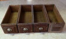 4 Vintage Treadle Sewing Machine Cabinet Drawers Antique Oak Ornate