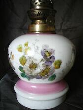 LAMPE A PETROLE PORCELAINE NAPOLEON III ART NOUVEAU XIXème OLD OIL LAMP