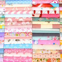 100pcs/Set Floral Cotton Fabric Bundle Patchwork Scraps Quilting Sewing Craft
