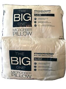 The Big One Microfiber Standard / Set Of Queen Pillows (TWO)