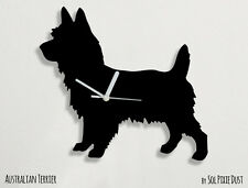 Australian Terrier Dog Silhouette - Wall Clock