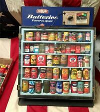 Vintage Eveready Store Display Rack Tester & Dry Cell Battery Collection Antique