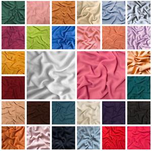 Plain Chiffon Fabric Material Quilting Metre 30 Colours 60 Inch