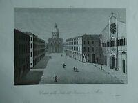 1845 Zuccagni-Orlandini Veduta della Strada del Seminario in Modena