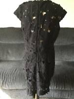 Ax Paris Black Crochet Lace Dress - Size 16