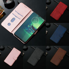 For MOTO G8 G7 G6 E6 Plus Z4 G6 E6 Play Magnetic Leather Case Wallet Stand Cover