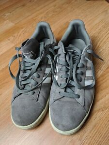 MENS SIZE 10 ADIDAS CAMPUS ART G06027 GRAY & WHITE SUEDE