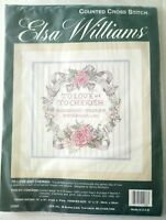 Elsa William To Love and Cherish Cross Stitch Kit 02066 JCA Inc wedding marriage