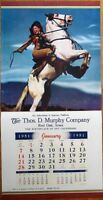 Pinup Cowgirl 1951 15x30 Poster/Advertising Calendar: Woman & Horse, Rarin to Go
