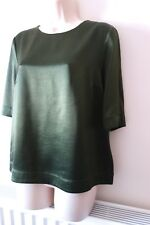 Elizabeth and James Satin Top, size L