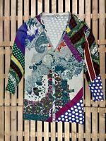 Womens Dress Etro Milano Size 48 Cardigan Silk Elastan