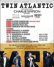 Twin Atlantic / Charlie Simpson 2012 Uk Concert Tour Poster - Alt Rock Music