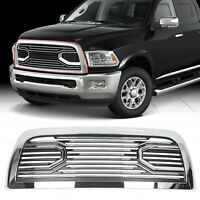 Big Horn Chrome Packaged Grille+Replacement Shell for 10-18 Dodge Ram 2500+3500