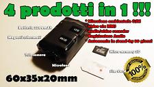 Microspia Telecamera microfono audio/video GSM MMS professionale 30 giorni