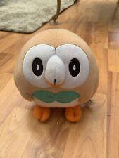 Rare Official Rowlet Pokemon Soft Plush Toy TOMY UK Seller