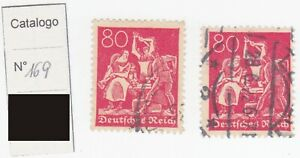 FILATELIA GERMANIA:REICH - 1922 - Numerale - Filigrana: Rombo.80pfg.