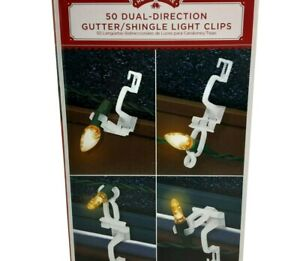 Holiday Time 50 Dual Direction Gutter Shingle Light Clips