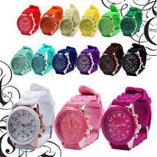 Silicone Band Quartz Jelly Sports Analog  Wrist Watches For Women /Lady/Girls