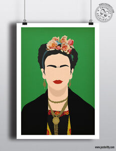 FRIDA KAHLO - Minimalist Poster MinimaPrint Art Posteritty Portrait Art Khalo