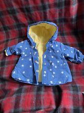 New Blue And Yellow Daisy Baby Girl Coat (Size Newborn) (9)