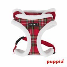 PUPPIA Tartan Rudolf A Harness LARGE Red Fur Checks Dog Puppy Hoodie No-Pull