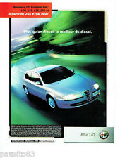 PUBLICITE ADVERTISING 046  2004  Alfa Romeo  Alfa 147 JTD common rail