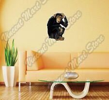 "Monkey Chimpanzee African Animal Ape Wall Sticker Room Interior Decor 18""X25"""