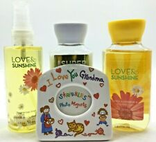 Bath & Body Works Love & Sunshine Gel Lotion & Mist Set