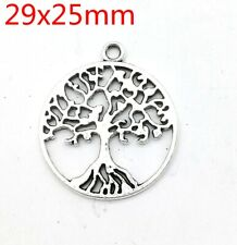 Tibetan silver Beautiful  fashion Round tree pendant Bracelet jewelry 10pcs