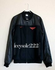 Nike Flight 1 Bomber Basketball Jacket Leather Wool Jordan Mens Large destroyer