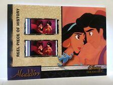 DISNEY TREASURES ALADDIN REEL PIECE OF HISTORY FILM RELIC CARD JASMINE & JAFAR