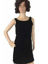 Rhapsody Womens Dress Knit Slim Fit Backless Embelished Glittered Bodycon M