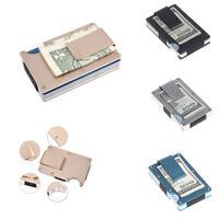 Slim Carbon Fiber Credit Card Money Holder Metal Wallet RFID Non-scan Clip Purse