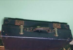 Vintage ,retro Kelvin Navy Suitcase , Original Locks & Handle ,pro Corners