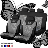 Universal 4x Butterfly Car Seat Covers PU Leather Auto Protect Airbag Compatible