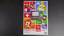 NINTENDO 3DS XL THERE'S NO PLAY LIKE IT SHEIF CARD PROMO DISPLAY MARIO ZELDA