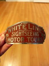 Trolley Bus Driver Hat Badge / White Line Motor Tours