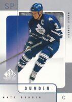 2000-01 SP Game Used Hockey #56 Mats Sundin Toronto Maple Leafs